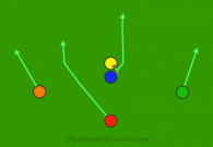 5 on 5 flag football play