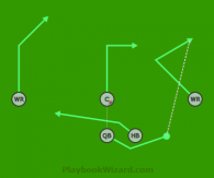 5 on 5 flag football play