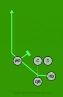 RN - Shotgun01 - HB (1) is a 5 on 5 flag football play