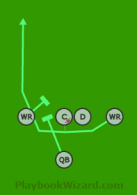RN - Shotgun02 - Snap to WR is a 5 on 5 flag football play