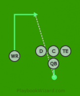 RN - Singleback01 - WR (1) is a 5 on 5 flag football play