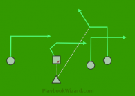 Reverse Flow is a 5 on 5 flag football play