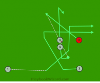 Motion 3 is a 5 on 5 flag football play