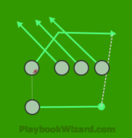 Cross Pass is a 5 on 5 flag football play