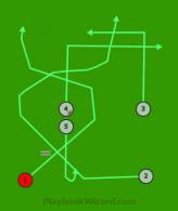 Cross 6 is a 5 on 5 flag football play
