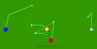 Button Hook 1 is a 5 on 5 flag football play