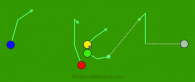 Button Hook 2 is a 5 on 5 flag football play