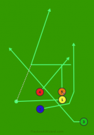 Stack Left Cross 5 Quick Pass is a 5 on 5 flag football play