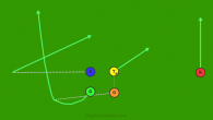 74 - Swing Pass Left is a 5 on 5 flag football play