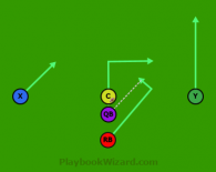 Quick Hit is a 5 on 5 flag football play