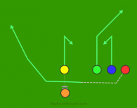 17 - Reverse Bunch Right is a 5 on 5 flag football play