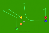 20 - Tiger Right - Shovel Blue is a 5 on 5 flag football play