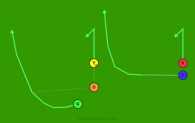 77 - Tiger Right - Swing Green is a 5 on 5 flag football play