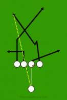 rocky top is a 5 on 5 flag football play