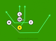 Delete3 is a 5 on 5 flag football play