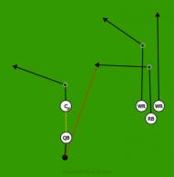 105 is a 5 on 5 flag football play