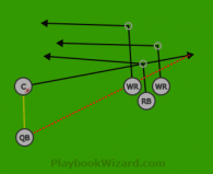 105-2 is a 5 on 5 flag football play