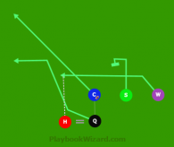 H PASS wide under (W-C) is a 5 on 5 flag football play
