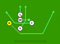 Toy Story - Woody Pitch is a 5 on 5 flag football play
