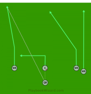 Verticals is a 5 on 5 flag football play