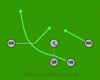 Sprint Draw is a 5 on 5 flag football play