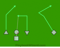 pass is a 5 on 5 flag football play