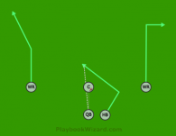 HB Angle is a 5 on 5 flag football play