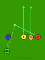Trips Quick 3 is a 5 on 5 flag football play