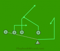 Stamp(Richi, Louis) is a 5 on 5 flag football play